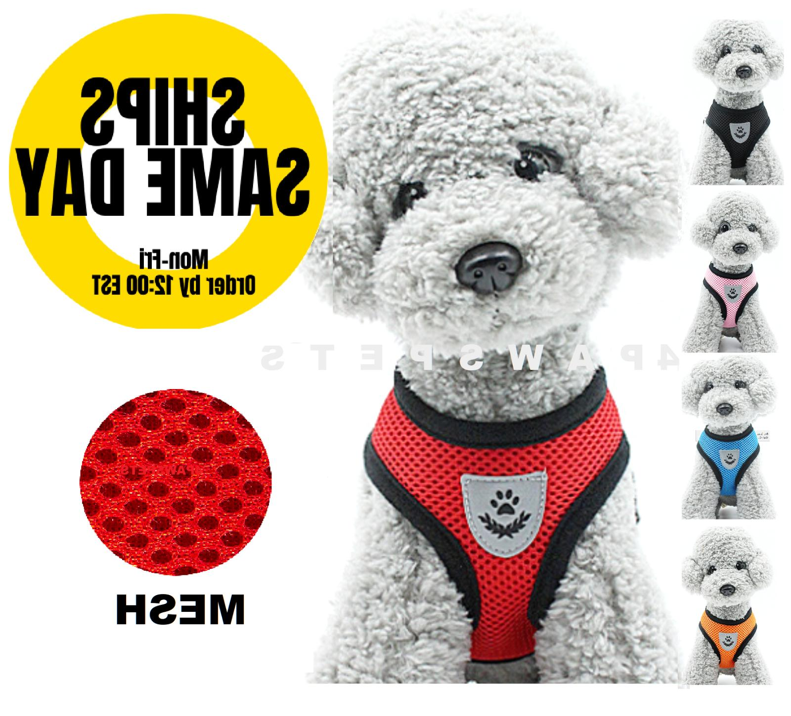 pet control small dog harness soft double
