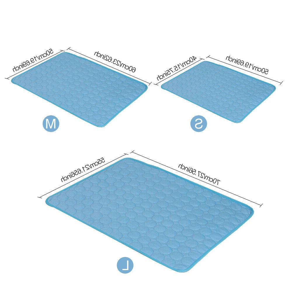 Comfortable Pet Cooling Cold Gel Pad Cushion for Cat Cool