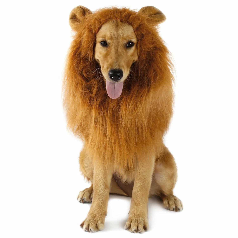 pet costume lion mane wig w ears