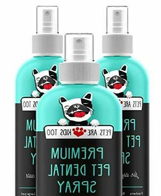 premium pet dental spray large 8oz eliminate