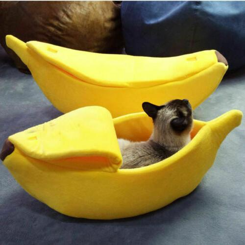 pet dog cat bed banana shape house