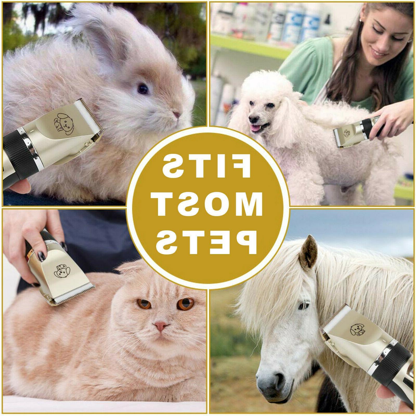Pet Electric No Noise Shaver Scissor Grooming Kit
