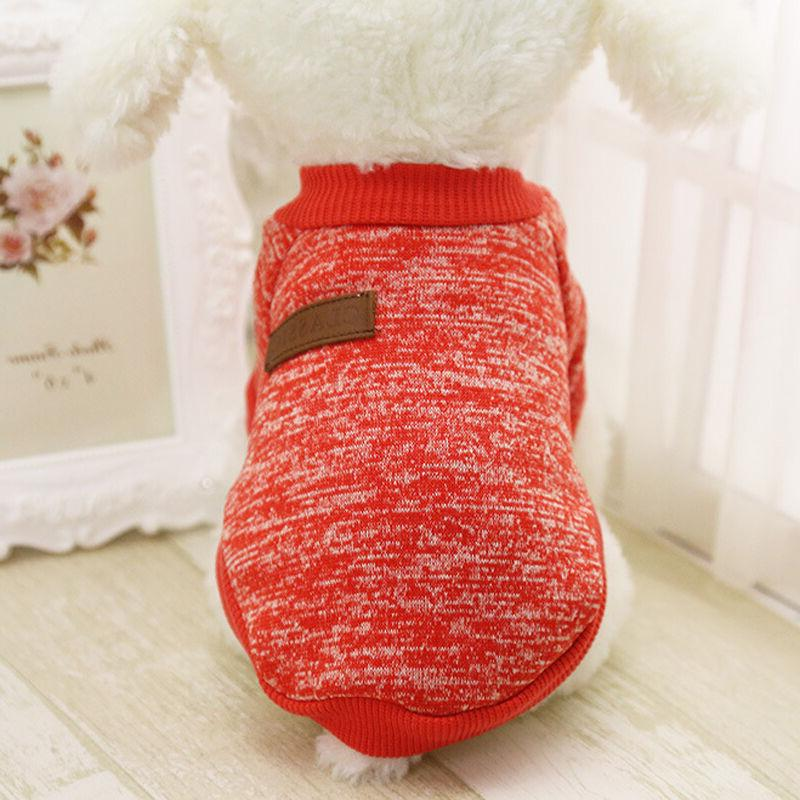 Pet Fleece Vest Puppy Shirt Sweater Winter Apparel US