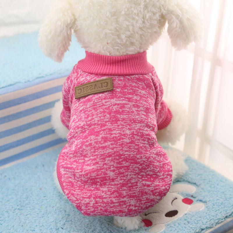 Pet Warm Fleece Puppy Sweater Apparel US