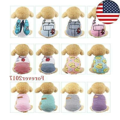 pet dog clothes summer puppy t clothing