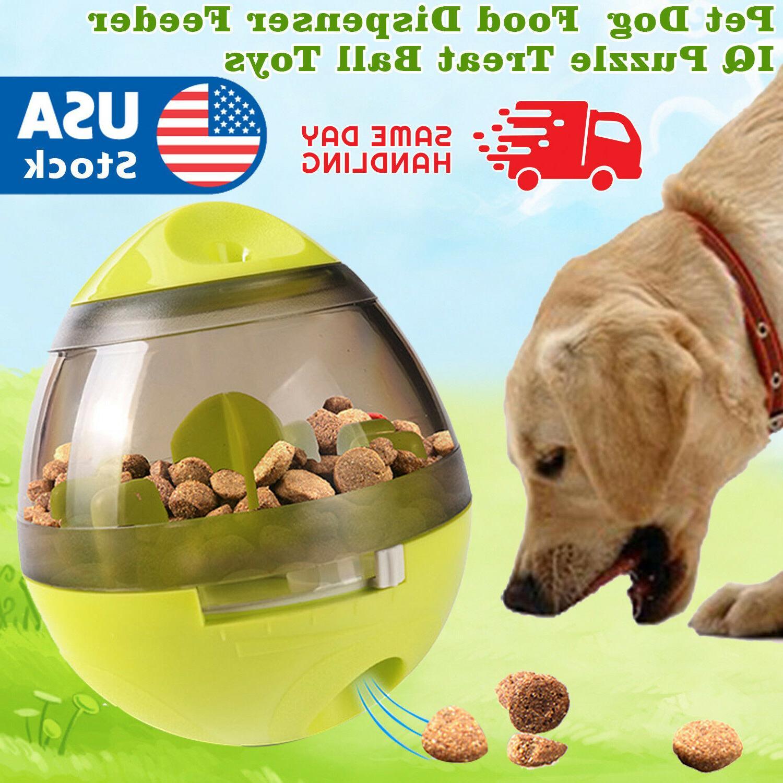 pet dog interactive tumbler food dispenser feeder