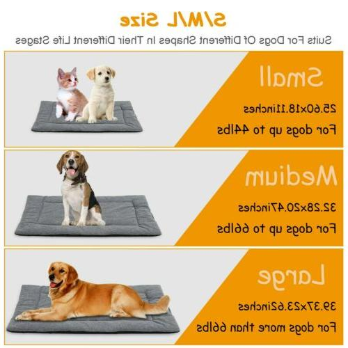 Dog Bed Mat Pet Carpet Reversible Pad Cushion S/M/L Dogs