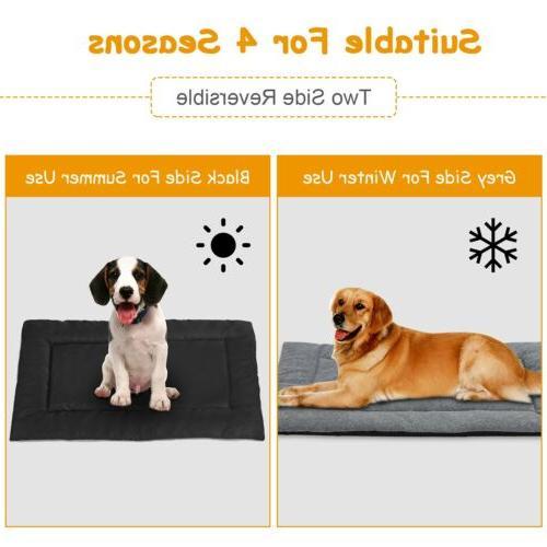 Dog Bed Mat Pet Dog Crate Reversible Cushion S/M/L