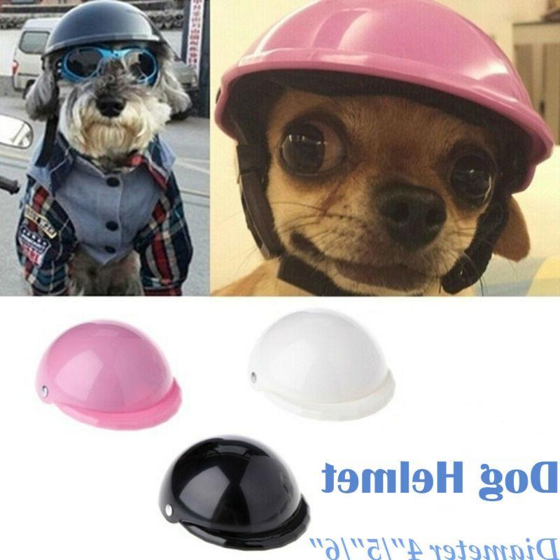 Pet Dog Cap Doggie Bike Motorcycle Helmet Plastic