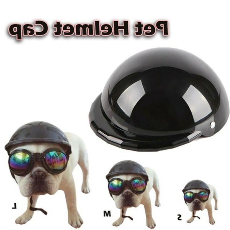pet dog ridding helmets cap abs doggie