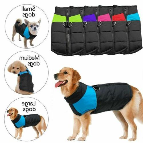 Pet Warm Waterproof Clothes Padded Small/Large