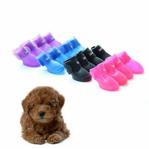 pet dog waterproof shoes small sizes dogs