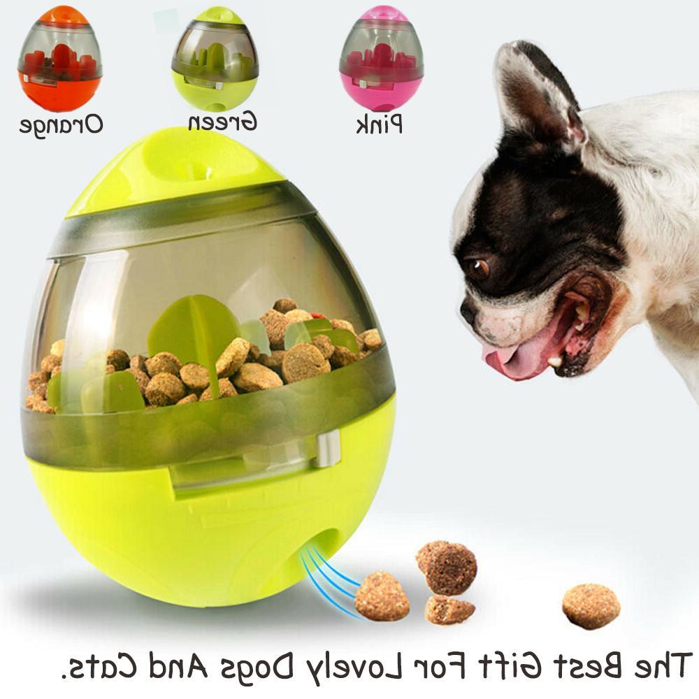 dog food balls tumbler pet puppy feeder