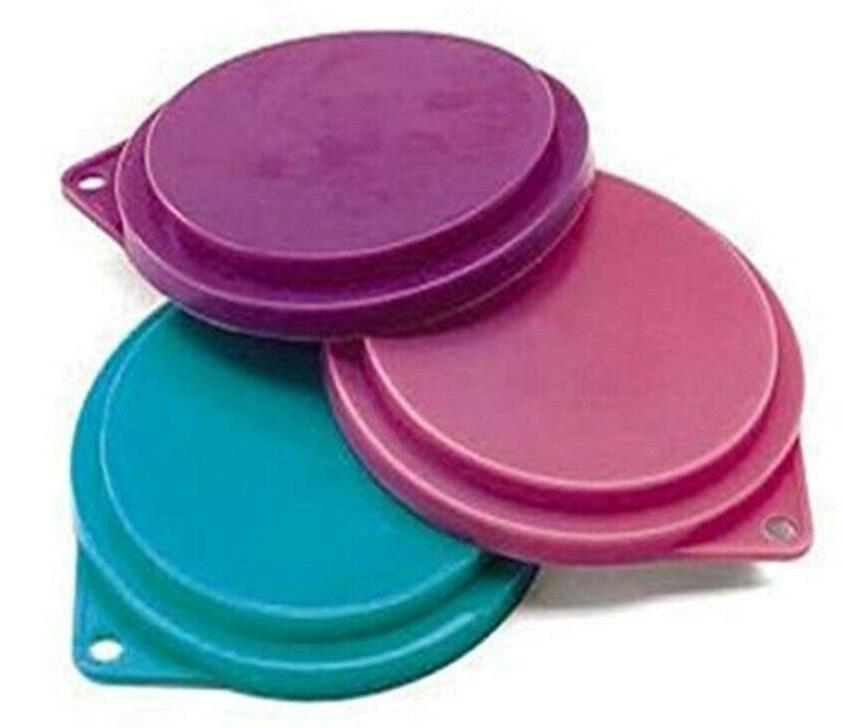 Pet Food Can Set of Colors 3-1/2 inches Cats Pets