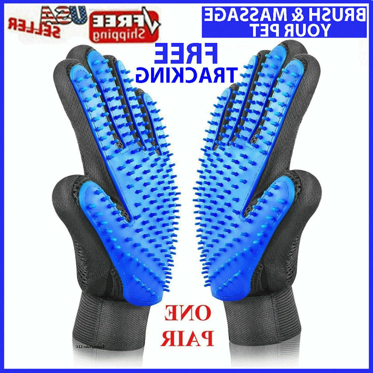 pet hair brush dog cat comb gloves