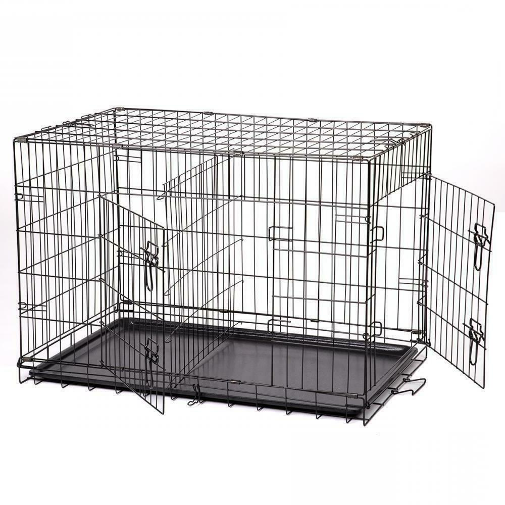pet kennel cat dog folding crate wire