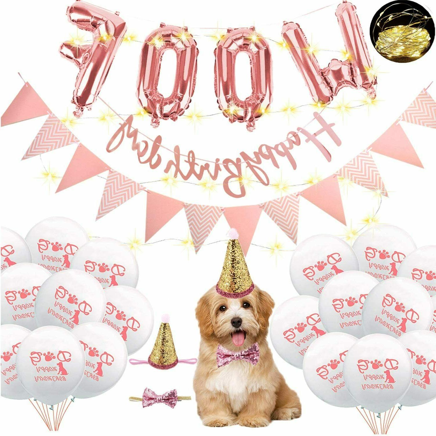 pet party balloons birthday party supplies set