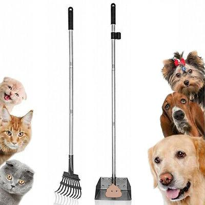 pet poop tray and rake removal long