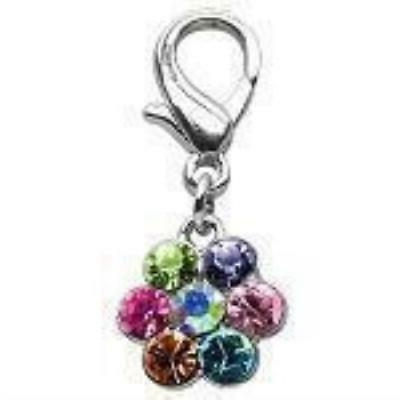 pet products lobster claw flower charm
