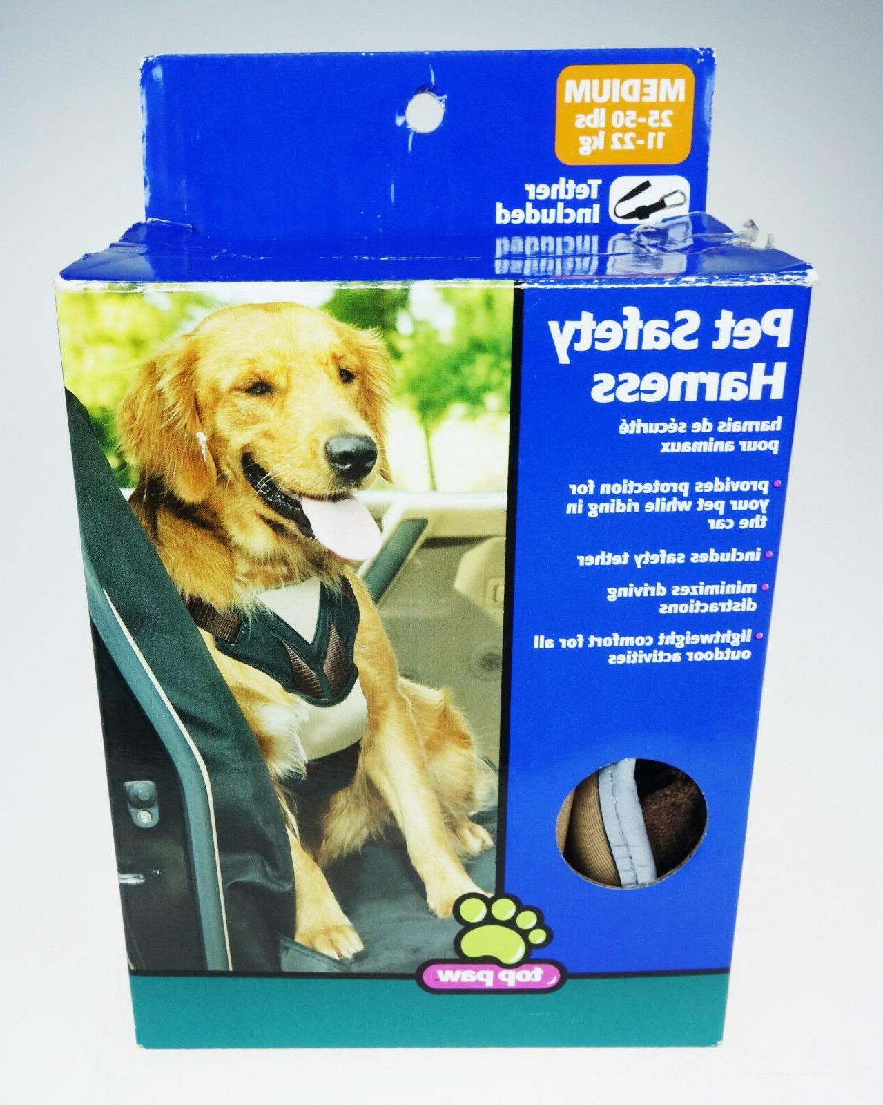 pet safety dog canine harness tether medium
