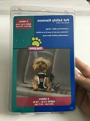 pet safety harness size x small girth