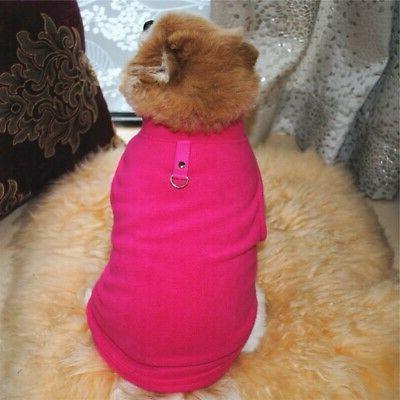 Pet Small Dog Fleece Harness Vest Coat Puppy Apparel