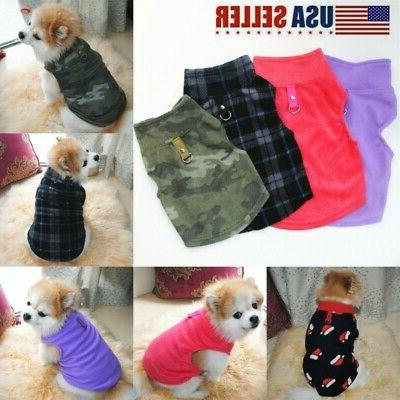 pet small dog fleece harness vest jumper