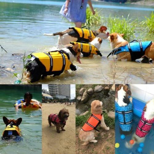 Pet Swimming Dog Life Jacket Stripe