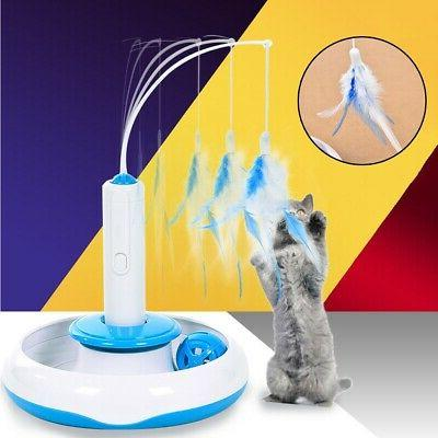 pet toys cat toy electric rotating feathers