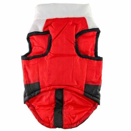 Pets Dog Jacket Warm Waterproof Winter Padded Puppy USA
