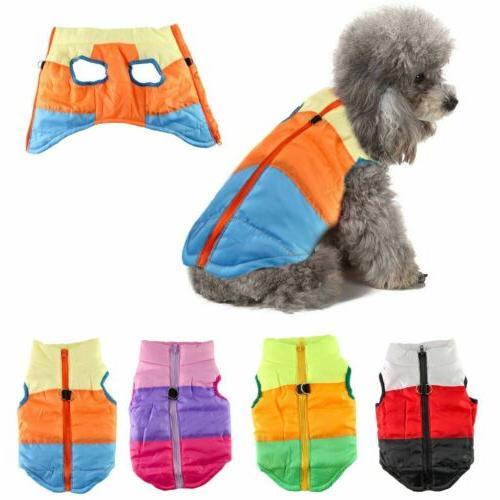 pets dog vest jacket warm waterproof clothes