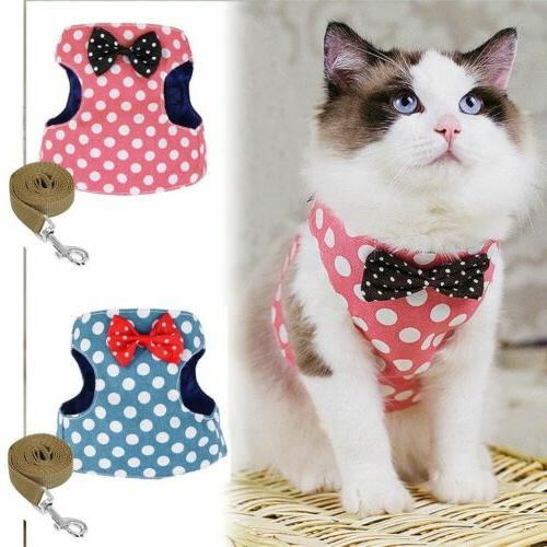 Pets Leash Harness Cute Cat Soft Walk Collar Safety Strap Vest