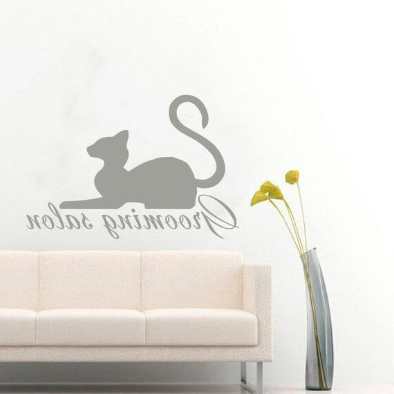 pets wall decals grooming cat vinyl decal