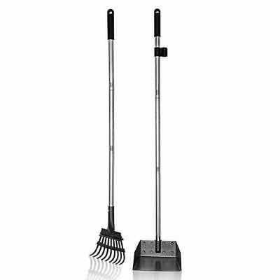 Pet Tray and Rake Long for Dog and Spade Scoop