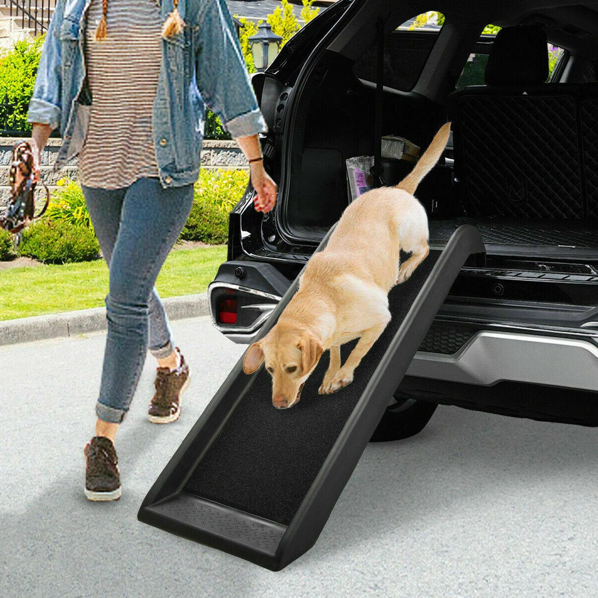portable dog ramp for large pet trunk