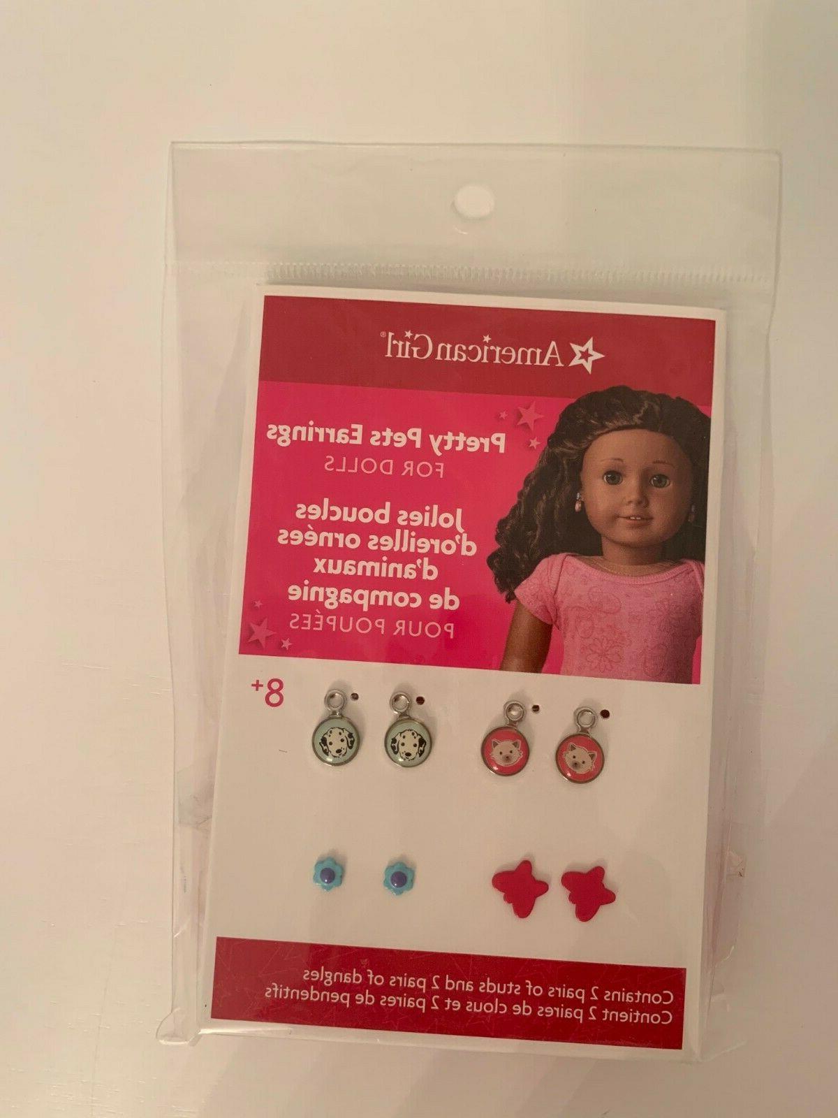 pretty pet earrings for dolls brand new