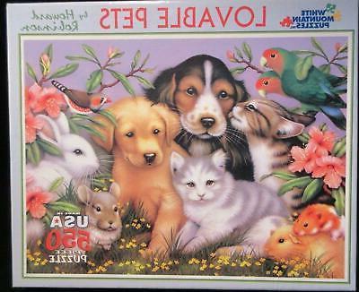 puzzle 550 pc lovable pets jigsaw puzzle
