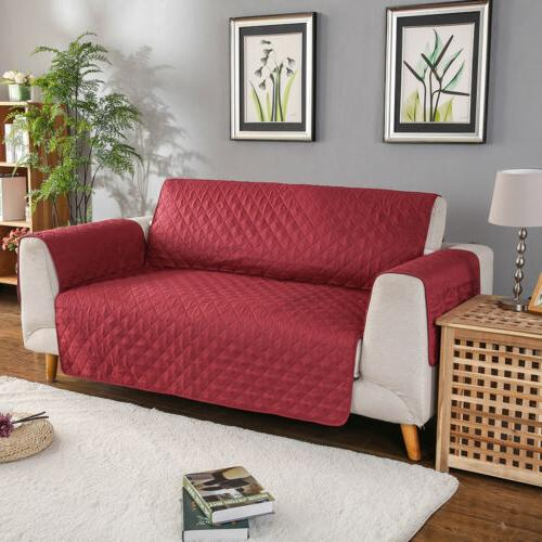 Quilted Sofa Nonslip Loveseat Slipcover Pet Protector