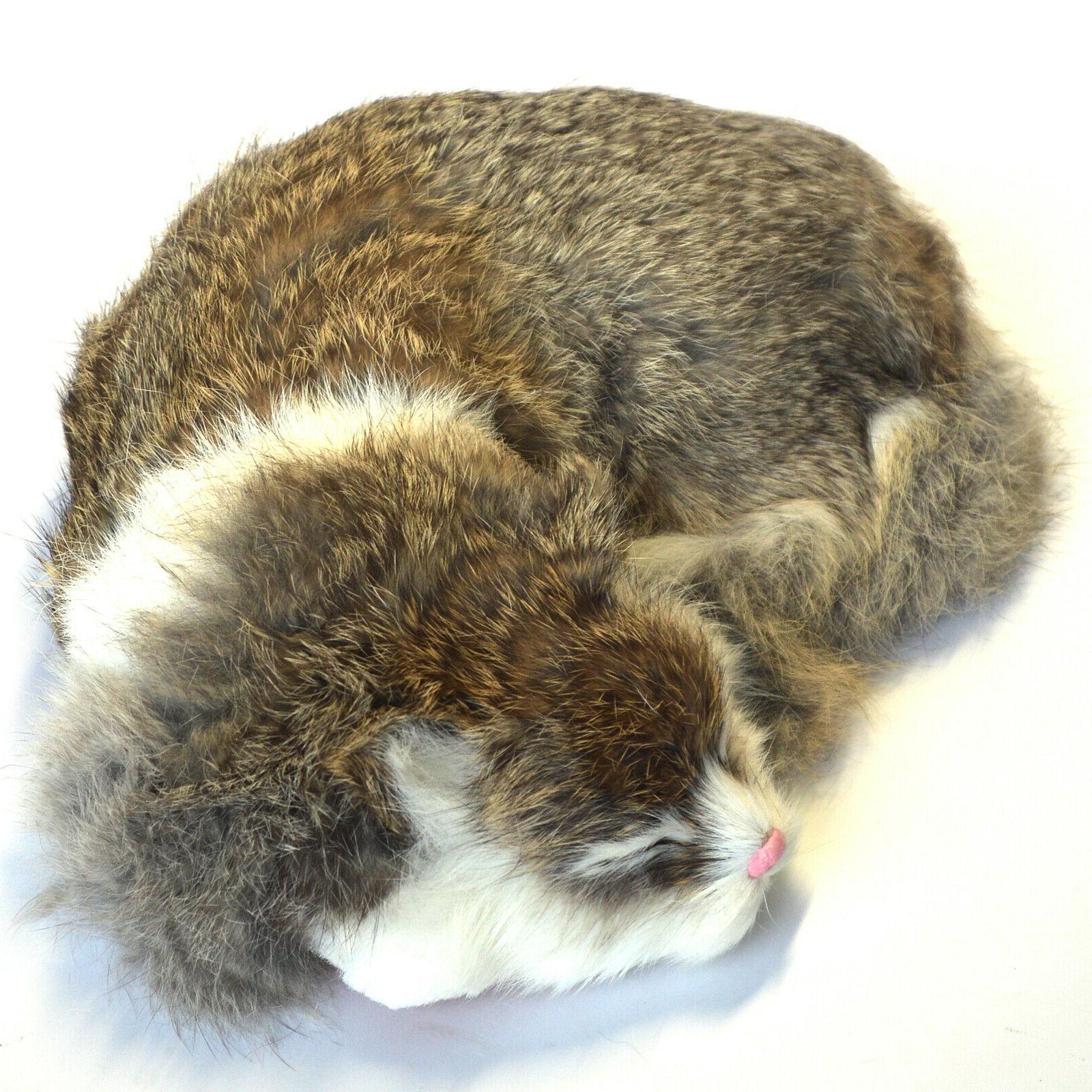 Realistic Plush Animal Sleeping Synthetic