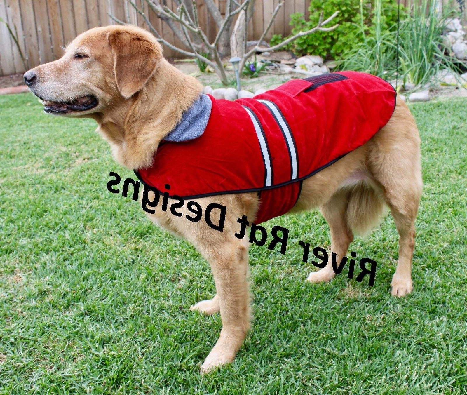 reflective fleece warm pet dog coat winter