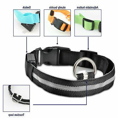 Safety Collar Blinking Night Up Pets USA