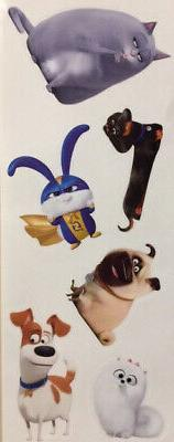 SECRET LIFE OF PETS 2 wall stickers 6 decals Max Snowball Gi