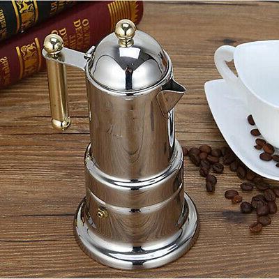 stainless steel italian stovetop espresso coffee maker