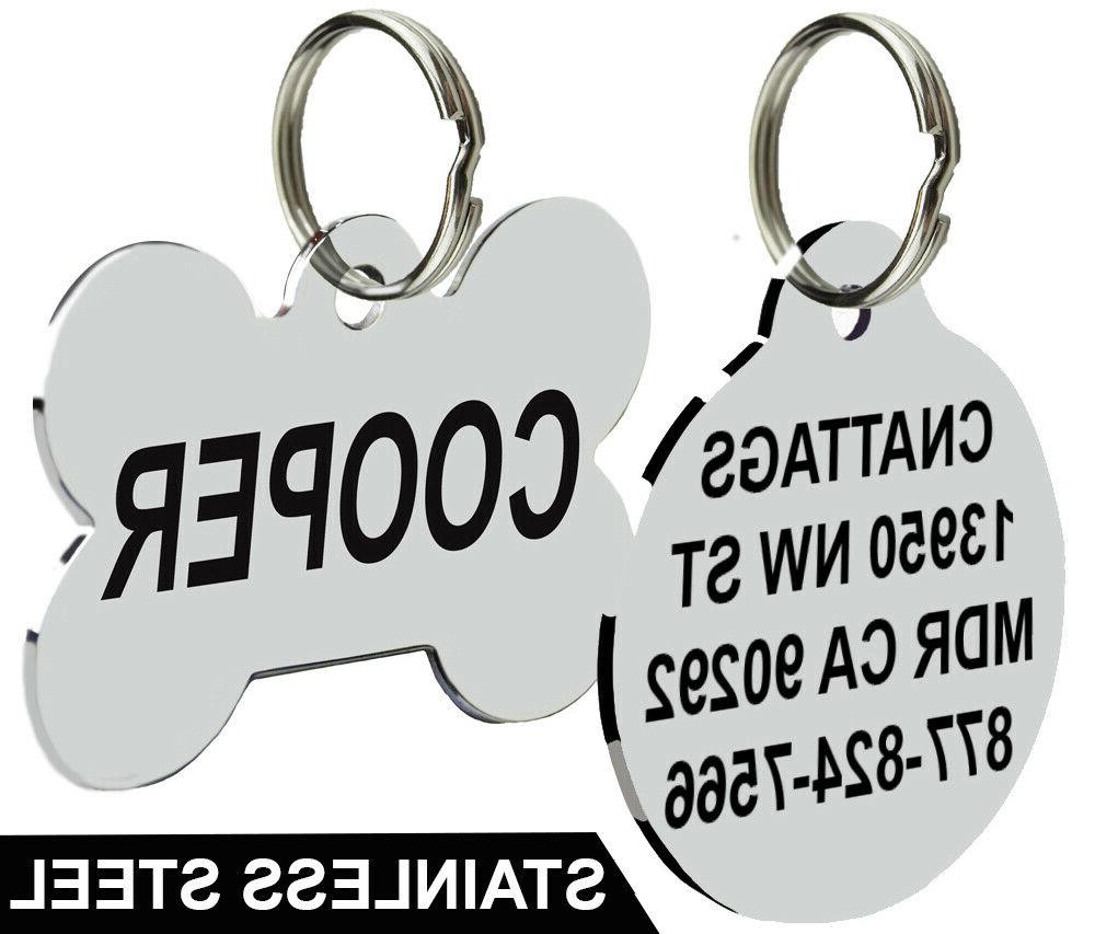 stainless steel pet id tags dog tags