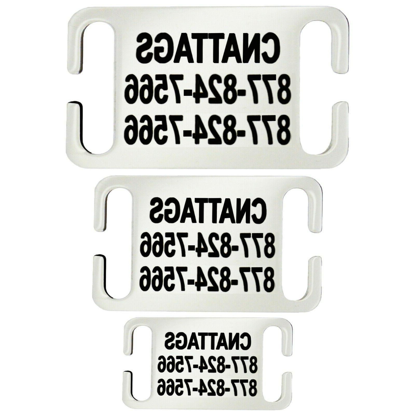 stainless steel slide on pet id tags