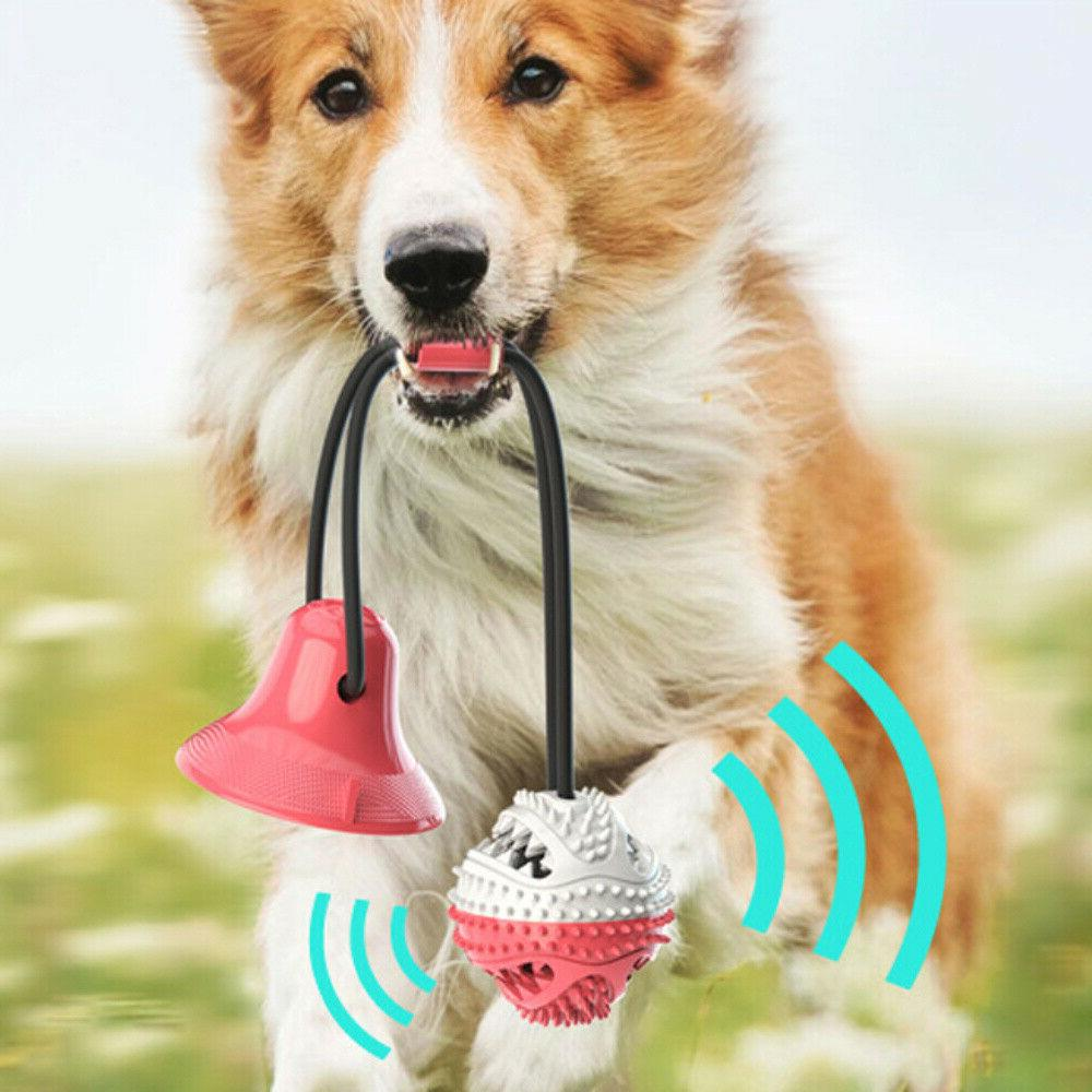 Suction Cup Dog Pet Dog Tug Toy Teeth Cleaning &