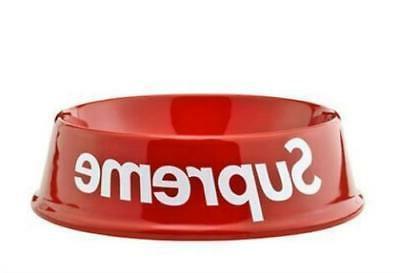 supreme pet bowl red
