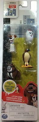 The Secret Life of Pets 4x Mini Figurines Tiberius Exclusive
