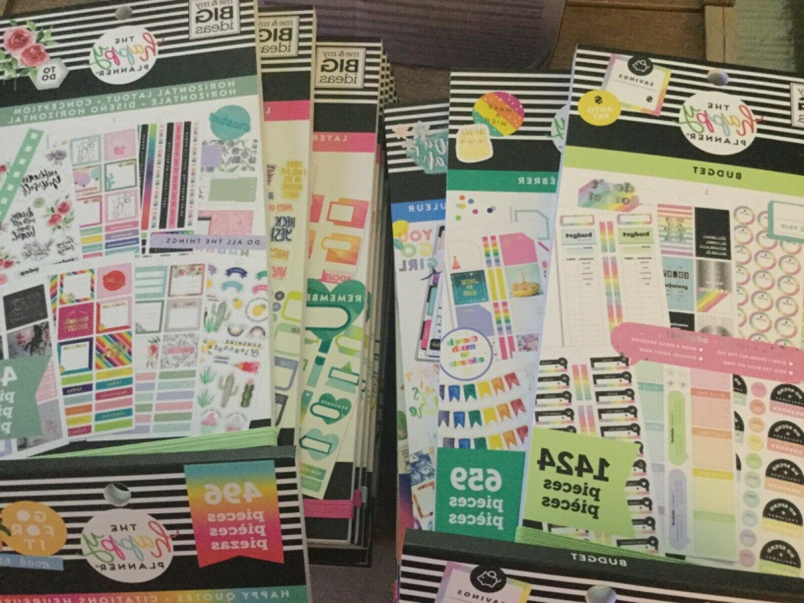 the happy planner sticker books your choice