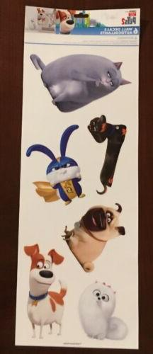 The Secret Life Of Pets 2 Wall Stickers 6 Decals Max Gidget